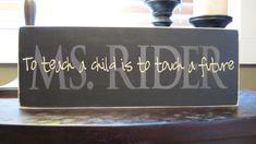 Teacher, Teacher Appreciation, Wood Sign, Plaque, Vinyl Lettering, gift, custom, home decor. $20.00, via Etsy.