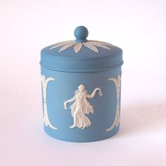 Wedgwood Jasperware Dancing Hours Covered Jar by Annieslands