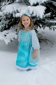 Elsa Inspired Play Dress and Cape by darlingcharlotte on Etsy, $65.00