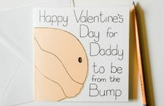 Greeting Card  Daddy to be Valentine Day by SamfireGreetingCards, £2.00