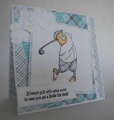 Art Impressions Rubber Stamps: Gordon Golfer Set (Sku#4325) Ai People ... handmade masculine card. sports,