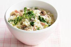 Leek, mushroom & bacon risotto main image