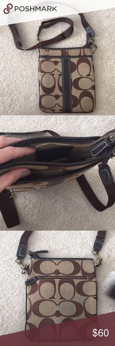 Coach Satchel Bag Brown coach C satchel bag. Slight fading on back from wearing with jeans. Coach Bags Satchels