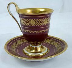 KPM Berlin Porcelain (Germany) —Tea Cup and Saucer  (738x700)