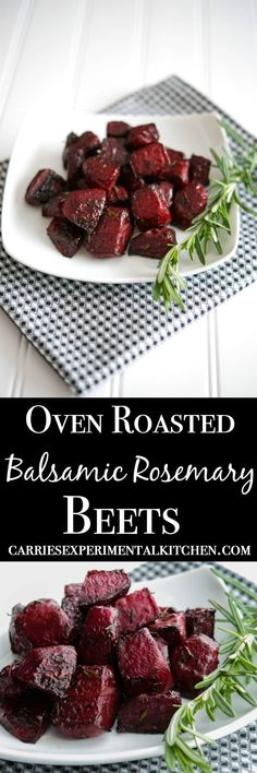 Oven Roasted Balsamic-Rosemary Beets Fresh beets tossed with balsamic vinegar, fresh rosemary and extra virgin olive oil; then roasted until soft and tender. Eat them hot as a side dish or cold in a salad. Side Dish Recipes, Vegetable Recipes, Vegetarian Recipes, Cooking Recipes, Healthy Recipes, Roasted Vegetable Salad, Roasted Beet Salad, Vegetable Sides, Recipes