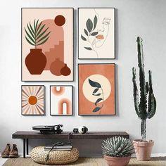Leaf Wall Art, Diy Wall Art, Abstract Wall Art, Large Wall Art, Wall Decor Set, Wall Art Sets, Wall Art Prints, Wall Collage, Art Mural Photo