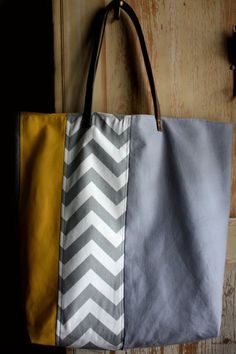 Chevron / block bag by Tiny Fete on Etsy