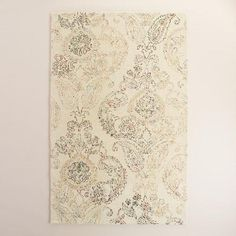 One of my favorite discoveries at WorldMarket.com: Ivory Tufted Wool Claudia Area Rug