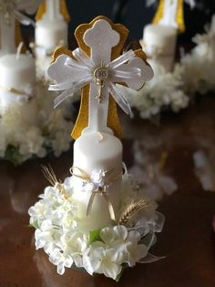 This item is unavailable This item is unavailable Centerpiece for first communion/ christening<br> Christening Centerpieces, Communion Centerpieces, First Communion Decorations, First Communion Favors, Baptism Decorations, Communion Invitations, First Holy Communion, Baptism Party, Boy Baptism
