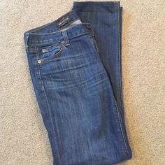 "J Crew Matchstick Jeans Super comfy J Crew matchstick jeans! 98% cotton 2% spandex, 27 Short, 7 1/2"" rise, waist 30"", 28 1/2"" inseam J. Crew Jeans Straight Leg"