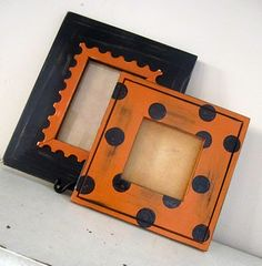 Cute Halloween frames, photo kids in costumes and display them each year.