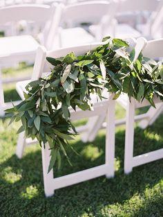 Creative seating decoration, raw and simple. @xoxobride  #weddingwednesdays #weddingsatojaivalleyinn  Photography: Lane Dittoe - lanedittoe.com  Read More: http://www.stylemepretty.com/california-weddings/2015/02/20/elegant-ojai-wedding/