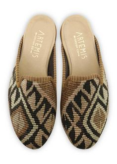 4f46633f2 Artemis Design Co. Kilim shoes are crafted from vintage Turkish Kilim  carpets, each pair