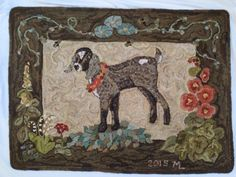 Hooked by Maureen Lowrey, beautiful colors, sweetest goat ever!