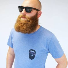 Sparks Clothing Men's Small Beard Print T Shirt