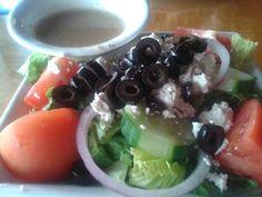 Greek Salad @ Gilligan's.  $6.99 plus tax