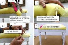 Un paso a paso para fanáticas de muebles con estilo Ottoman Stool, Recycled Furniture, Upholstered Chairs, My Room, Furniture Makeover, Diy Art, Ideas Para, Diy And Crafts, Projects To Try