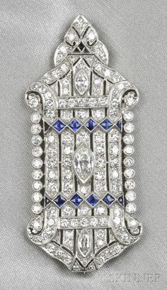 "Safety Pin Brooch Diamond Geometric Antiqued Photo Locket Charm Gold Tone USA 2/"""