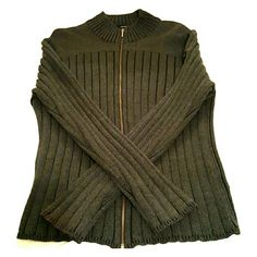 Calvin Klein sweater Ribbed, mock turtle neck with zipper, New Condition Calvin Klein Sweaters Crew & Scoop Necks
