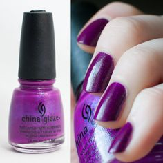 Flying Dragon by China Glaze: Neon purple with pink & blue micro-glitter. New $3.50