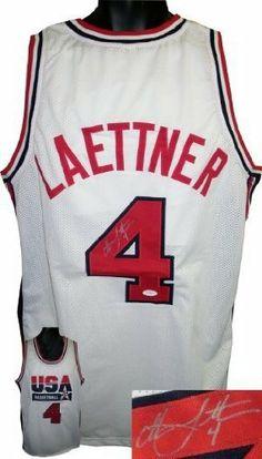 d8cc9b50d Christian Laettner Autographed Hand Signed Team USA Olympic Dream Team  White Custom Jersey- JSA