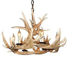 EFFORTINC Rustic Resin Deer Horn Antler Chandelier 6Light... https://www.amazon.com/dp/B01LWL1JGT/ref=cm_sw_r_pi_dp_x_Z6Quyb3ZZD25N