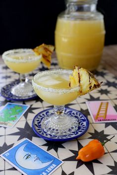 Habanero Pineapple Margaritas: