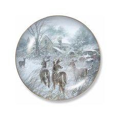 Wild Wings Homesteaders Deer Decorative Plate