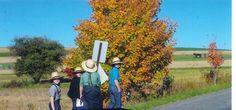 Amish boys in Smicksburg, PA walking home from school.