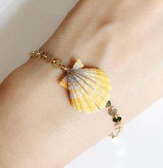 Seashell Jewelry, Seashell Crafts, Beach Jewelry, Cute Jewelry, Crystal Jewelry, Boho Jewelry, Jewelry Crafts, Jewelry Art, Jewelery