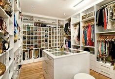 walk in closet design ideas -- This room is usually used for storing clothes, shoes, ties and accessories support other appearances, can also be used as a place of ornate. Master Closet, Closet Bedroom, Closet Space, Closet Mirror, Master Suite, Master Bedroom, Big Closets, Dream Closets, Walk In Wardrobe