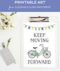 Printable Inspiring Art with Bicycle Graphic by Elegance & Enchantment