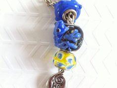 "Cute blue glass lampwork frog with ""be kind"" charm. on Silver tone Jewellery, Pendant, Glass, Silver, Blue, Jewelery, Drinkware, Money, Jewlery"