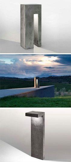 Concrete outdoor lig