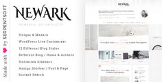 Newark - Writing and Personal Blog WordPress Theme Template Download