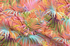 Cotton Fabric Fat Quarter Tropical Summer Coral Nature Palm Tree Beach  By Spoonflower#beach #coral #cotton #fabric #fat #nature #palm #quarter #spoonflower #summer #tree #tropical Chiffon Fabric, Satin Fabric, Polyester Satin, Palm Trees Beach, Custom Printed Fabric, Nature Tree, Beach Print, Minky Fabric, Fabric Swatches