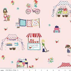 Half yard - 1/2 yard - Tasha Noel - VINTAGE MARKET - Vintage Main Pink