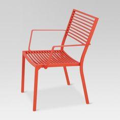 Flash Furniture Sky Blue Indoor Outdoor Steel Patio Arm