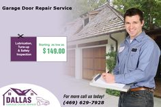 Avail Special offer on Garage Door Repair -  Lubrication, Tune - Up & Safety Inspection starting as low as $149.00 in Dallas