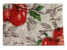 Apple Themed Placemats Red Apples Kitchen Linens Set of 4 placemats by Croft&Barrow $24.95