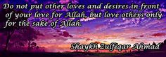 Do not put other loves…..