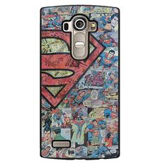 Superman Comic Pattern Phonecase Cover Case For LG G3 LG G4