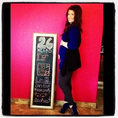 Chalkboard Pregnancy 26 Weeks: Lovely Little Lashes