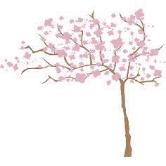 Desenhos de árvores especiais para decoração: adesivo de parede Árvore Cerejeira ao Vento