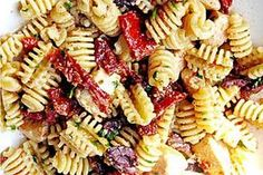 My favourite Pasta Salad (with dried and fresh tomatoes, feta cheese, basil, pine nuts, ...)