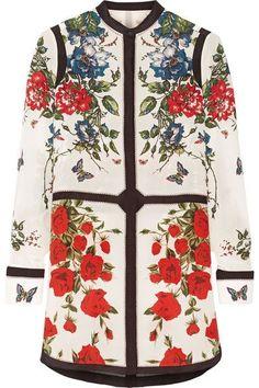Alexander McQueen - Floral-print Silk Crepe De Chine Tunic - White - IT48