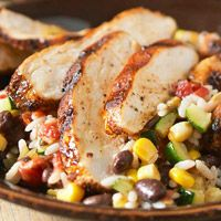 Spicy Grilled Chicken with Baja Black Beans and Rice - It originally comes from the Dec 2010 BHG Ultimate Mexican magazine and it's amazing. The flavors blend together very well, the chicken is moist and flavorful.