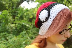 Crochet Pokemon Inspired Pokeball Hat by OwlPudding on Etsy, $17.00
