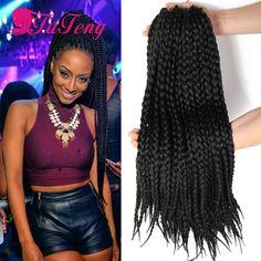 BOX Braids Crochet Braids Hair Extension 12 18 22 inch Box Braiding Hairstyles Crochet Braid Hair braiding Jumbo Box Braid Hair