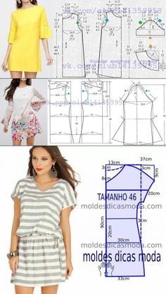Outstanding 20 Sewing tutorials projects are offered on our internet site. Read more and you wont be sorry you did. Dress Sewing Patterns, Blouse Patterns, Sewing Patterns Free, Clothing Patterns, Fabric Sewing, Skirt Patterns, Loom Patterns, Make Your Own Clothes, Diy Clothes
